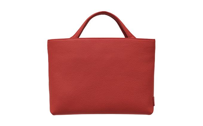 【革製品 ハンドバッグ トートバッグ】R-48 Hand tote bag SS レッド