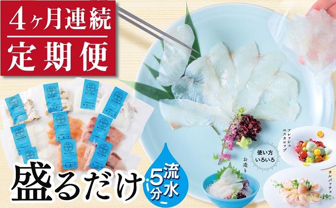【4ヶ月連続】三陸地魚おさしみ便50g×8~10袋 【定期便】