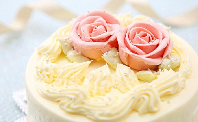 懐かしい昭和の味わい♪ バタークリームケーキ 北海道・新ひだか町のオリジナルケーキ