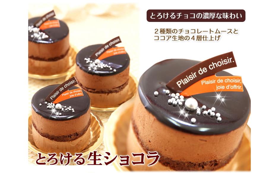 リッチな味わい♪チョコレートケーキ『とろける生ショコラ』 北海道・新ひだか町のオリジナルケーキ