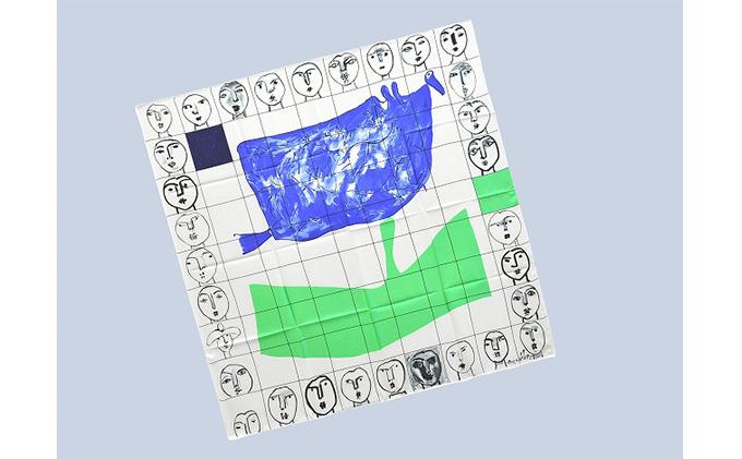 丸亀市猪熊弦一郎現代美術館 スカーフ 顔31