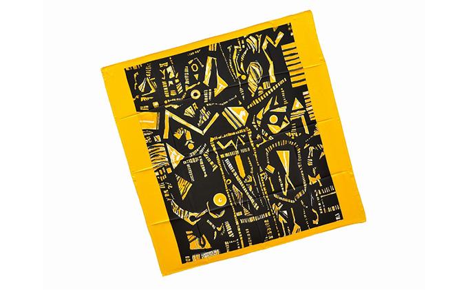 丸亀市猪熊弦一郎現代美術館 スカーフ 黄色の星座 イエロー