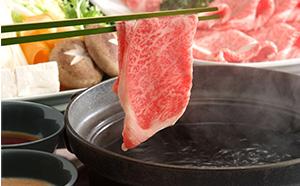 A4等級以上保証!!近江牛霜降りすき焼き・しゃぶしゃぶ用2kg
