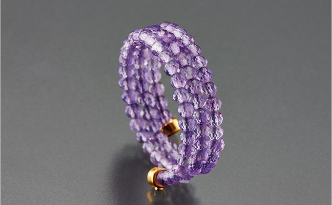 貴賓の紫「アメシスト」3連スパイラルリング