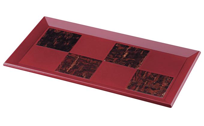 [樺細工]紅桜おもてなし盆