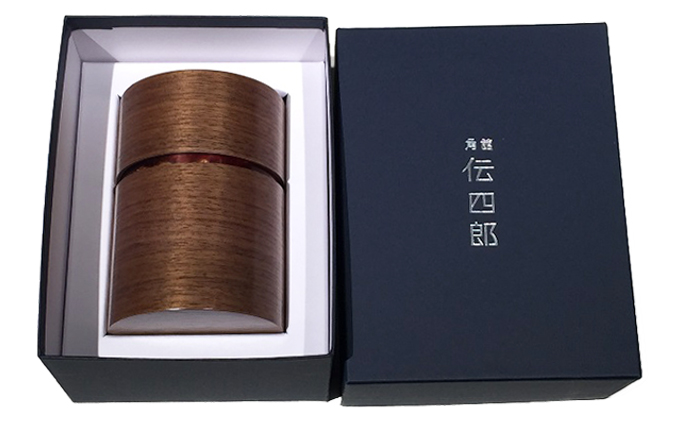 『角館 伝四郎』帯筒 茶筒(大)くるみ