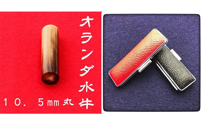 オランダ水牛10.5mm(5書体)牛革ケース(赤)