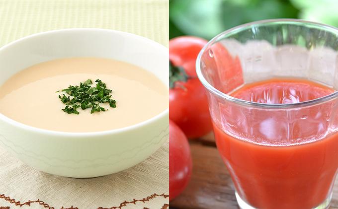 くっちゃん育ちの贅沢トマトジュース、雪の下ポテトスープセット