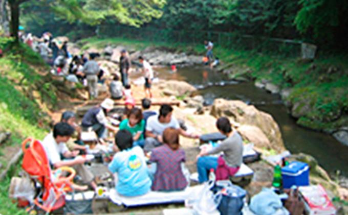 自然を満喫!渓流釣りと手ぶらでBBQセット