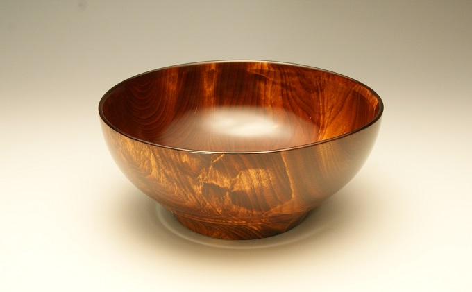 漆器 栃杢造鉢(茶)