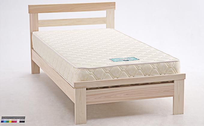 セブンベッド ヒノキ無垢無塗装ベッド マット付