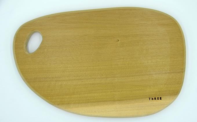 天然銘木 朴のまな板 まるっこ(大)