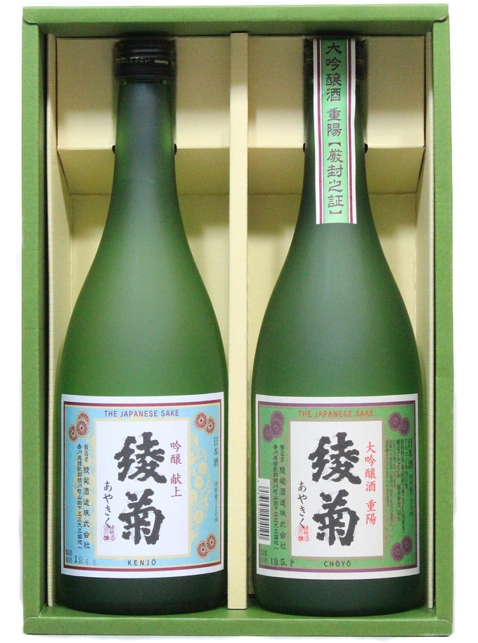 綾菊 レトロラベルセット(大吟醸・吟醸酒)