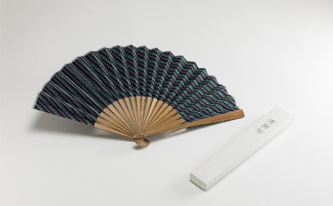 静岡県浜松市のふるさと納税 緑守扇 遠州綿紬 扇子(浮草)