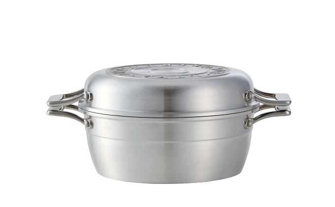 HAMON しろがね21cm 北陸アルミニウム はもん 鋳物鍋 日本製 ギフト プレゼント