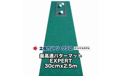 ゴルフ練習用・最高速パターマット30cm×2.5mと練習用具(土佐カントリークラブオリジナル仕様)