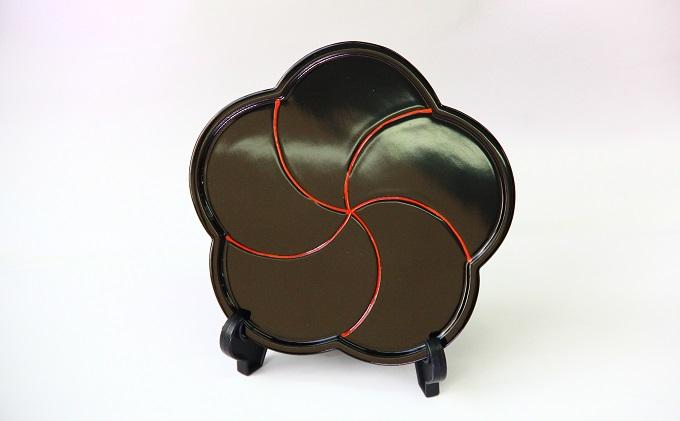 干菓子盆 捻梅(黒) 高岡漆器 おぼん トレー 木製