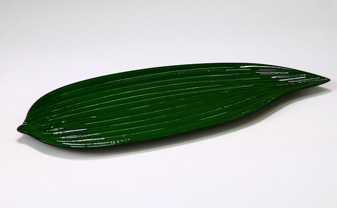干菓子盆 笹グリーン 高岡漆器 おぼん トレー 木製