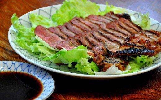 【四国一小さなまちの料理屋富士】特製タレ付き 合鴨ロースト用「生肉」400g