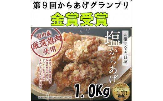 【からあげグランプリ金賞】田野屋鶏旦那 塩からあげ1Kg