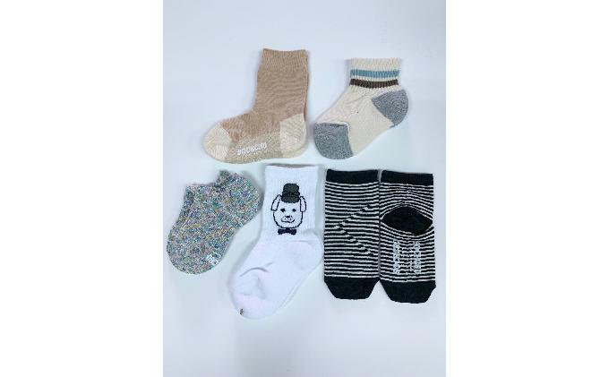 王寺子供靴下5足セット男児13-15cm