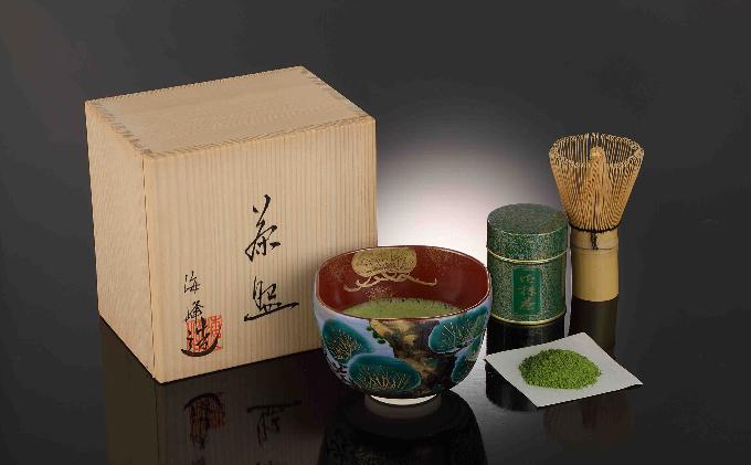 海峰作清水焼抹茶碗セット