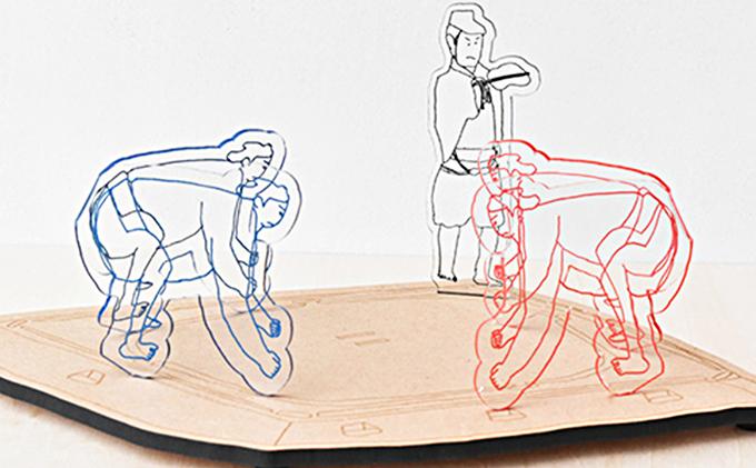 【なつかしのおもちゃ】トントン相撲セット