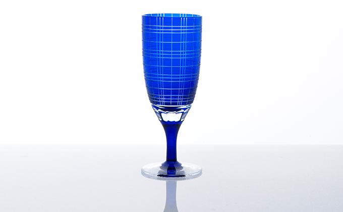 藍 和イングラス 三筋格子
