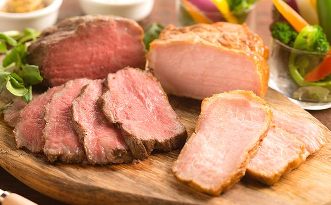 大和牛のローストビーフとヤマトポークローストポーク食べ比べA