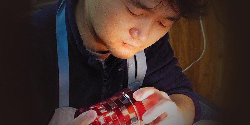 東京都墨田区のふるさと納税 藍  焼酎グラス 縁飾り舟形七宝