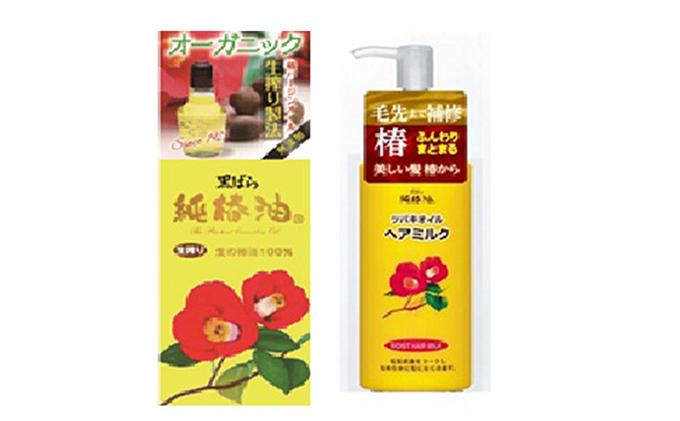 「すみだモダン」黒ばら本舗 純椿油72ml、ツバキオイルヘアミルク