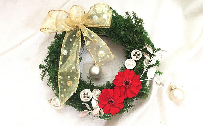 オールプリザーブドフラワー クリスマスリース(S)