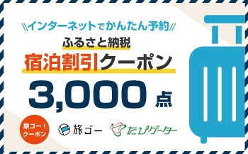 若狭町 旅ゴー!クーポン(3,000点)