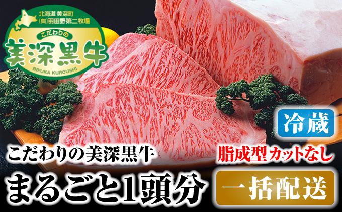 北海道 こだわりの美深黒牛1頭分 成型脂カットなし(冷蔵)