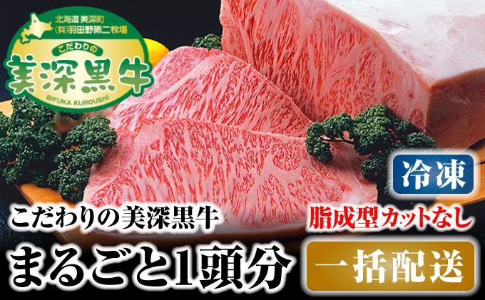 北海道 こだわりの美深黒牛1頭分 成型脂カットなし(冷凍)