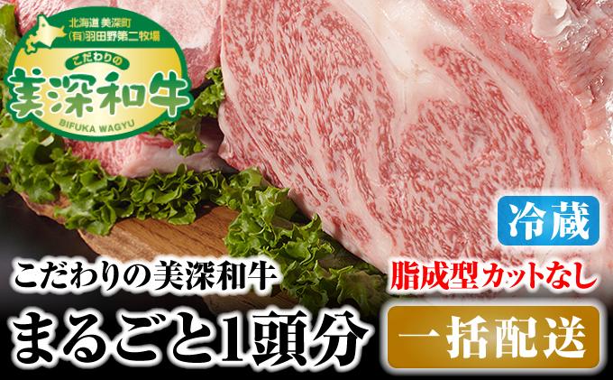 北海道 こだわりの美深和牛1頭分 成型脂カットなし(冷蔵)