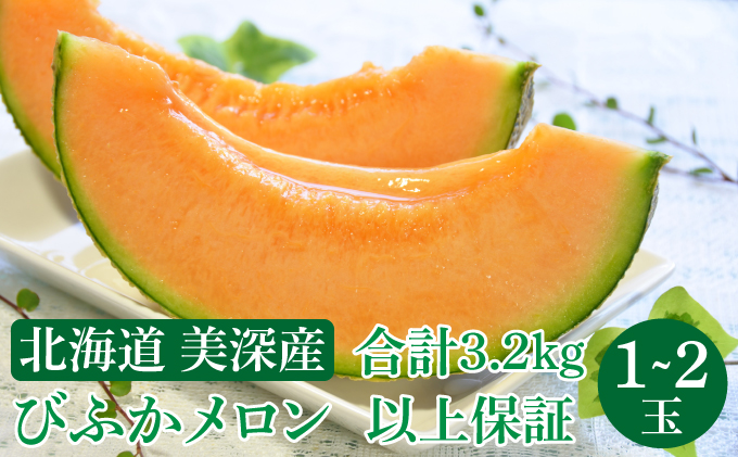 北海道 美深町産 びふかメロン 1~2玉