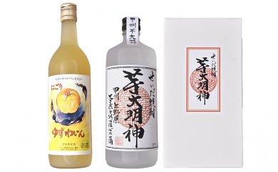 せいだ焼酎「芋大明神」と長寿の里の「ゆずワイン」セット
