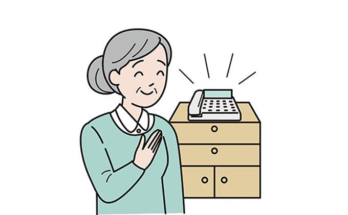 岐阜県瑞穂市のふるさと納税 みまもりでんわサービス(固定電話)(12か月)