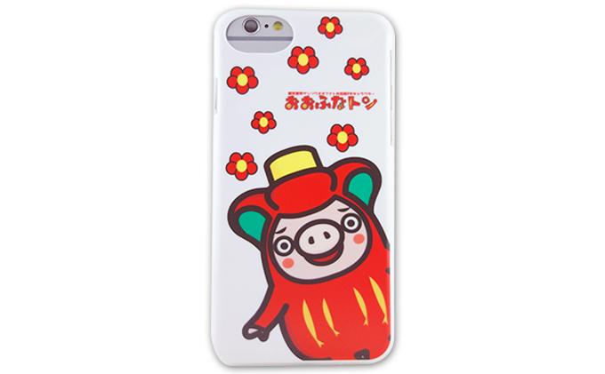 おおふなトン iPhone6/6S/7 兼用ケース(クローズアップおおふなトン柄)