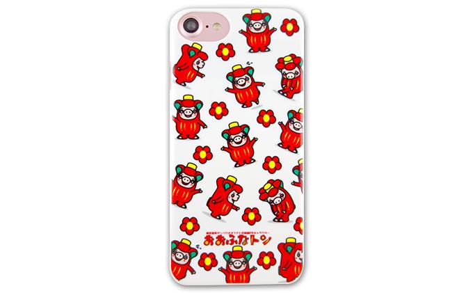 おおふなトン iPhone6/6S/7 兼用ケース(総柄おおふなトン)