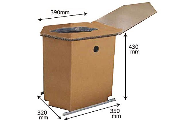 緊急対応災害トイレ(ダントイレ)基本セット 凝固剤約100回分付き