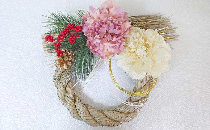 迎春紅梅しめ飾り(3)