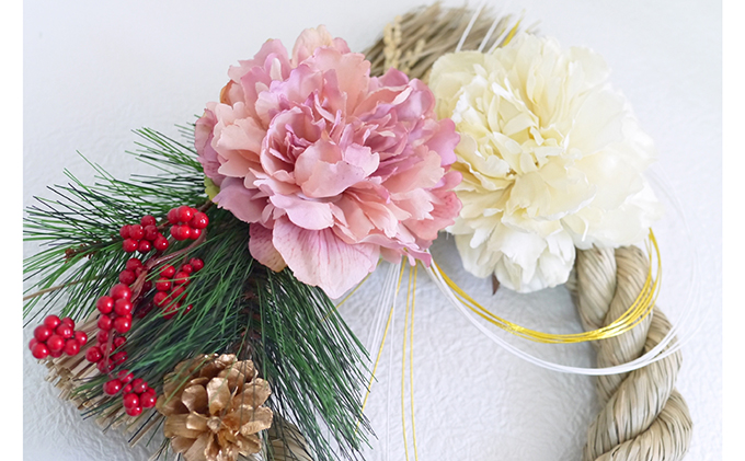 岐阜県海津市のふるさと納税 迎春紅梅しめ飾り(3)