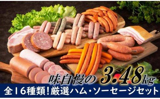 大分県国東市のふるさと納税 感謝の39セット/16種ハムソーセージ盛合せ3.48kg