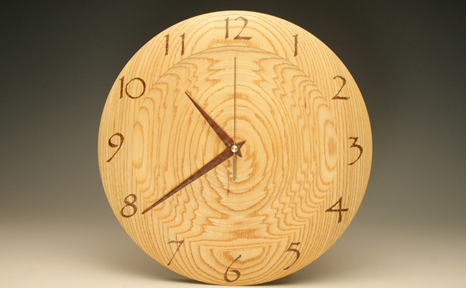 木の時計 欅(筋目) 29.7cm