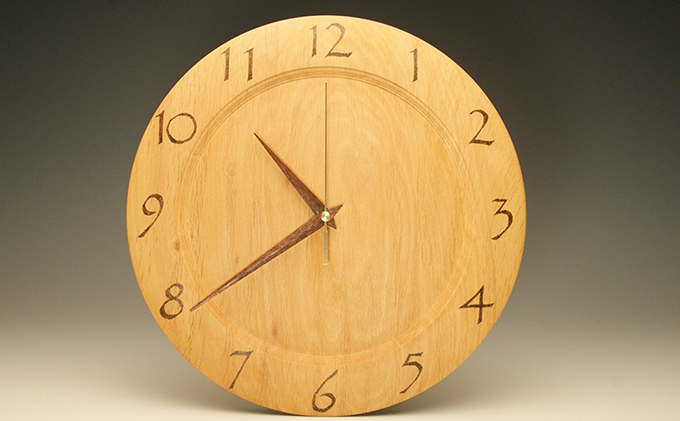 木の時計 榛の木 29.7cm