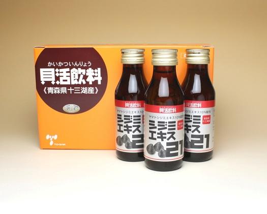シジミエキス21 100ml×10本(十三湖産ヤマトシジミ使用)