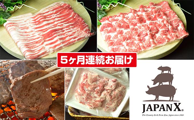 【5ヶ月】JAPAN X&特選厚切り牛タンセット1.7kg(バラ・肩ロース・小間・牛タン)【定期便】