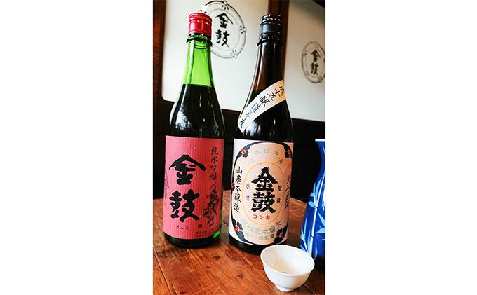 【こだわりの日本酒】大倉本家の金鼓シリーズ(純米吟醸「赤ラベル」と「平成十五年醸造」のセット)